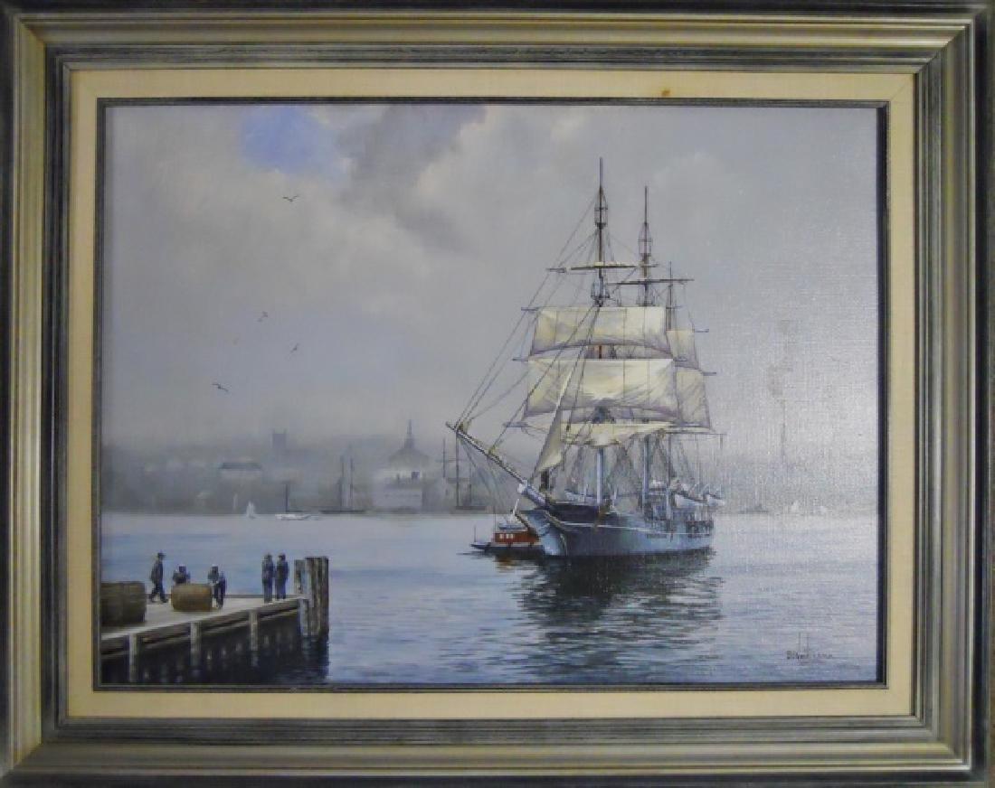 Painting O/C Whale Ship, B. E. Neill, (1914-2001) - 2