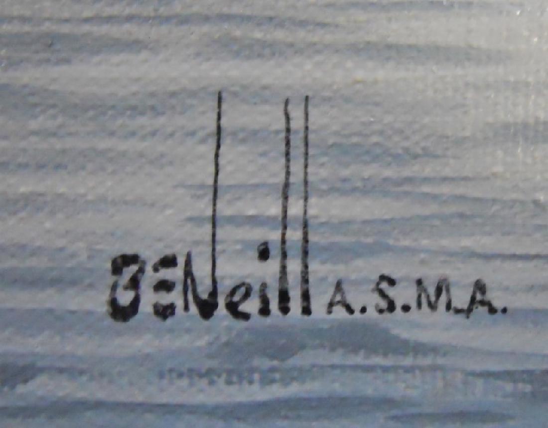 Painting O/C Whale Ship, B. E. Neill, (1914-2001) - 3