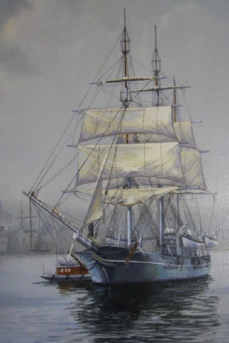 Painting O/C Whale Ship, B. E. Neill, (1914-2001) - 4