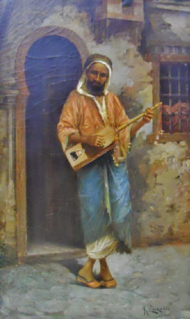 Painting, O/C Portrait of Musician, R. Luzatto