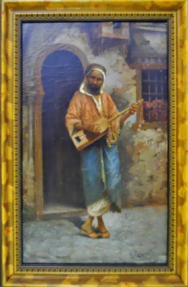 Painting, O/C Portrait of Musician, R. Luzatto - 2