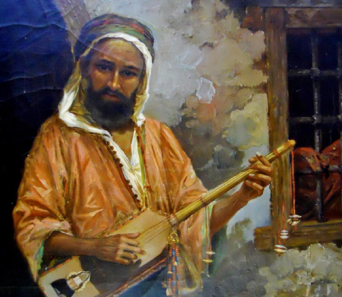 Painting, O/C Portrait of Musician, R. Luzatto - 3