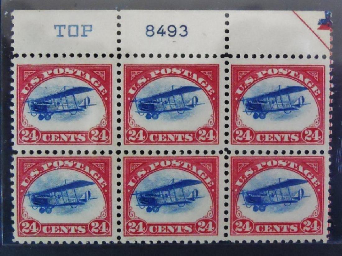 1918 US 24 Cent  Airmail Plate Block, C3 Mint