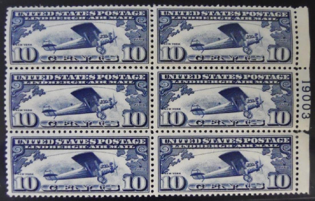 Collection US Airmail Plate Blocks, (5pc) - 2