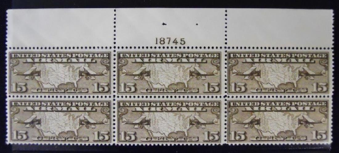 Collection US Airmail Plate Blocks, (5pc) - 5