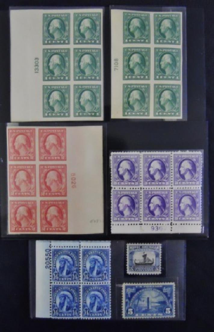 Collection US Stamps Plate Blocks, (7pc)
