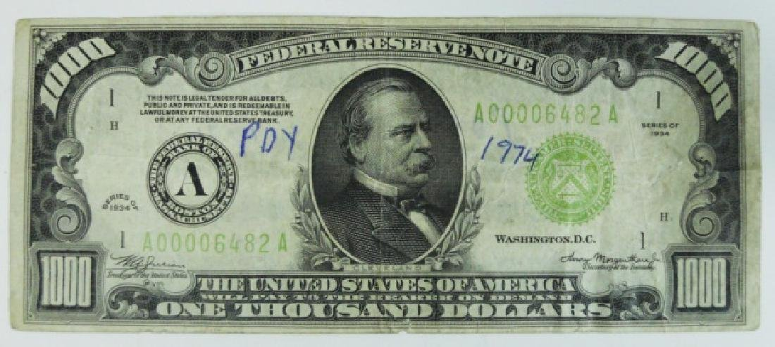 $1000 Federal Reserve Note, Series 1934