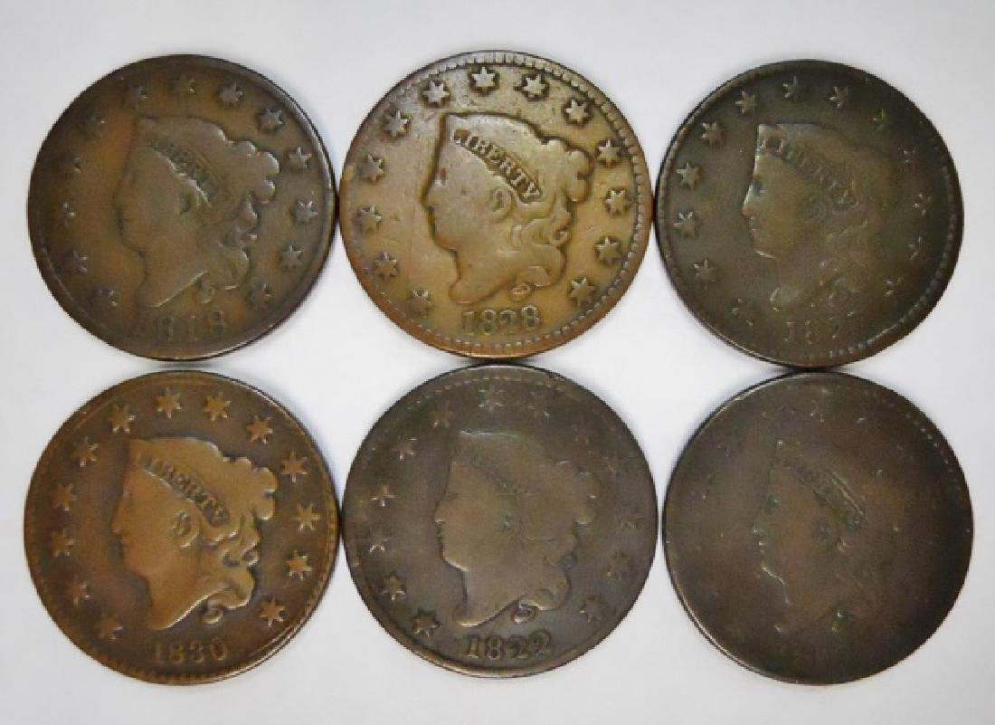 Collection, Mixed Date Coronet Large Cents (6pc)