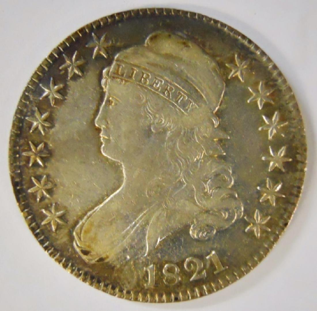 1821 US Bust Half Dollar, About Uncirculated