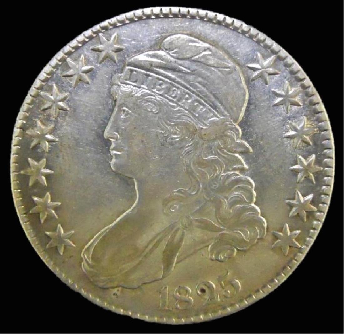 1825 US Bust Half Dollar, About Uncirculated