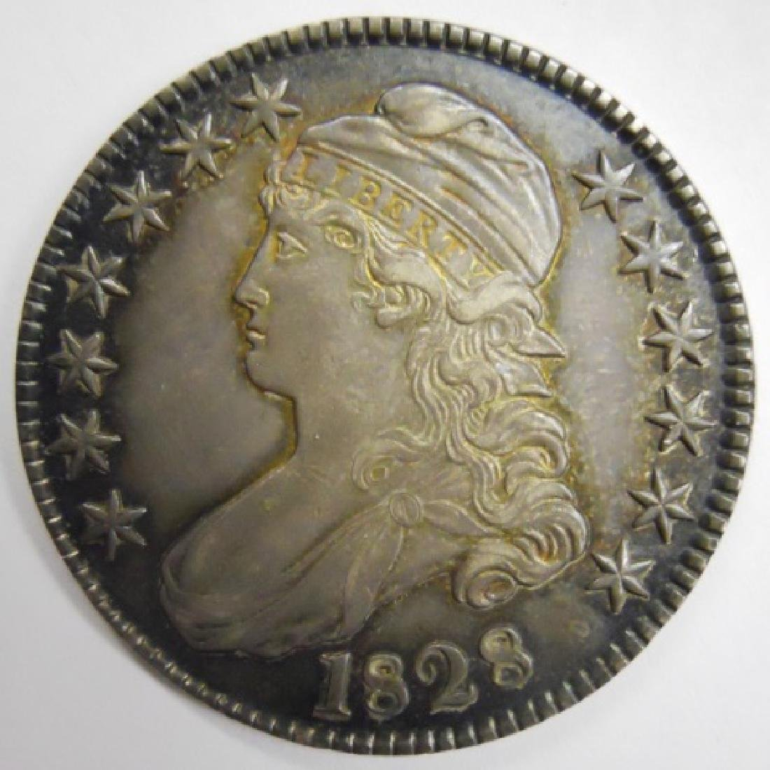 1828 US Bust Half Dollar, About Uncirculated
