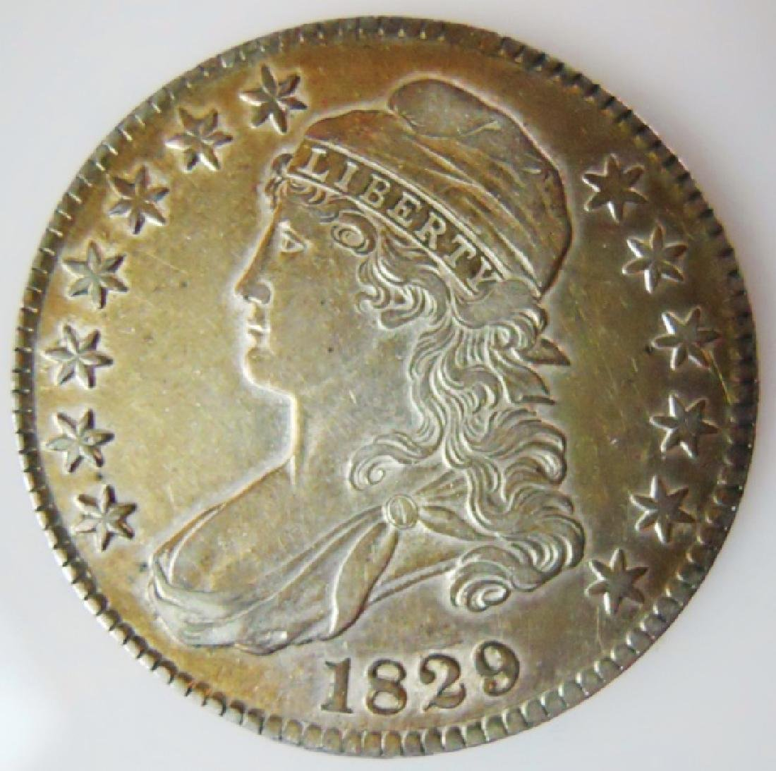 1829 US Bust Half Dollar, About Uncirculated