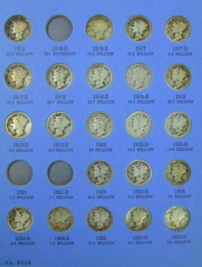 Collection of Mercury and Roosevelt Dimes, (116pc) - 3