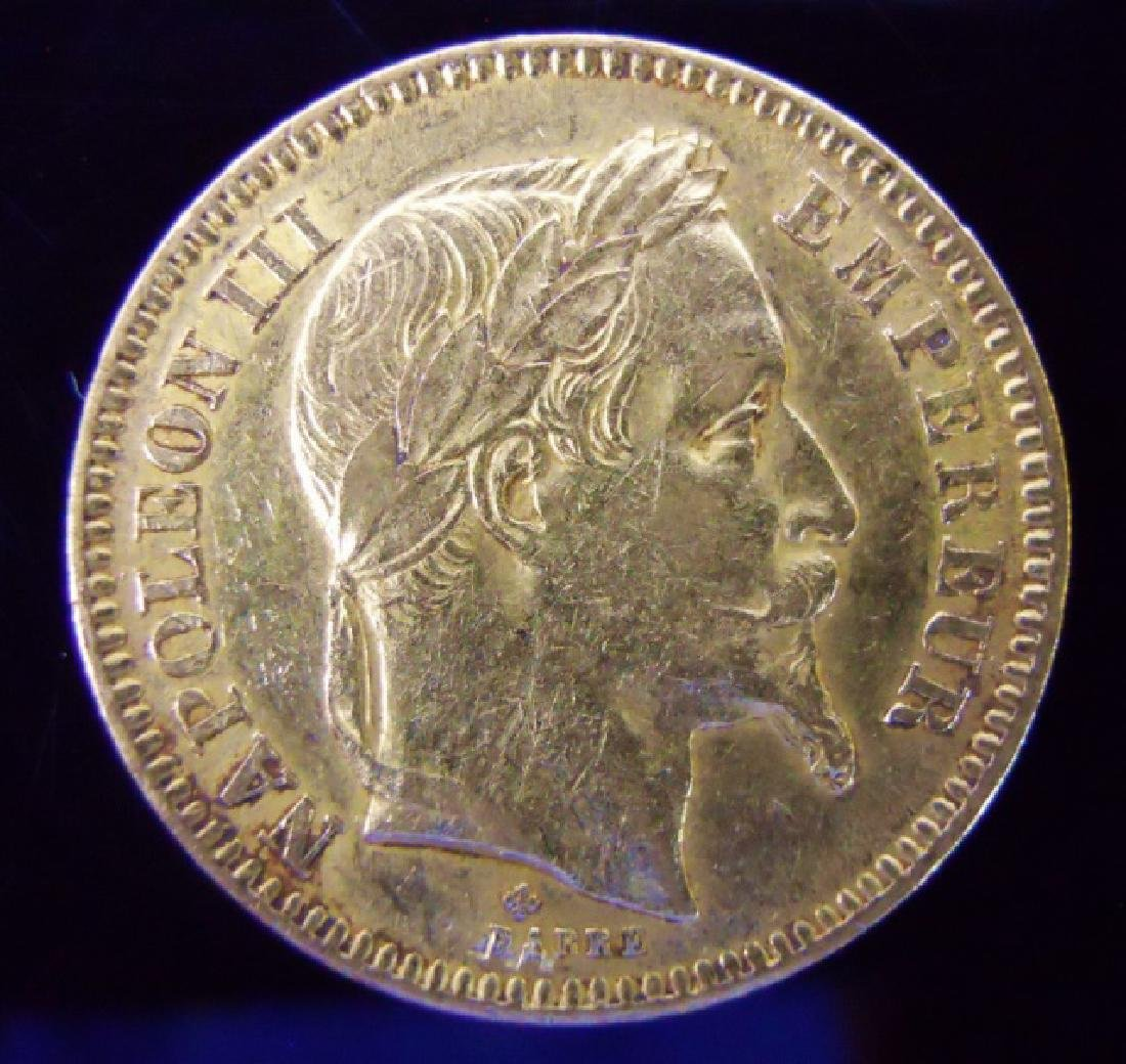 1864 French Napoleon III 20 Franc Gold Coin