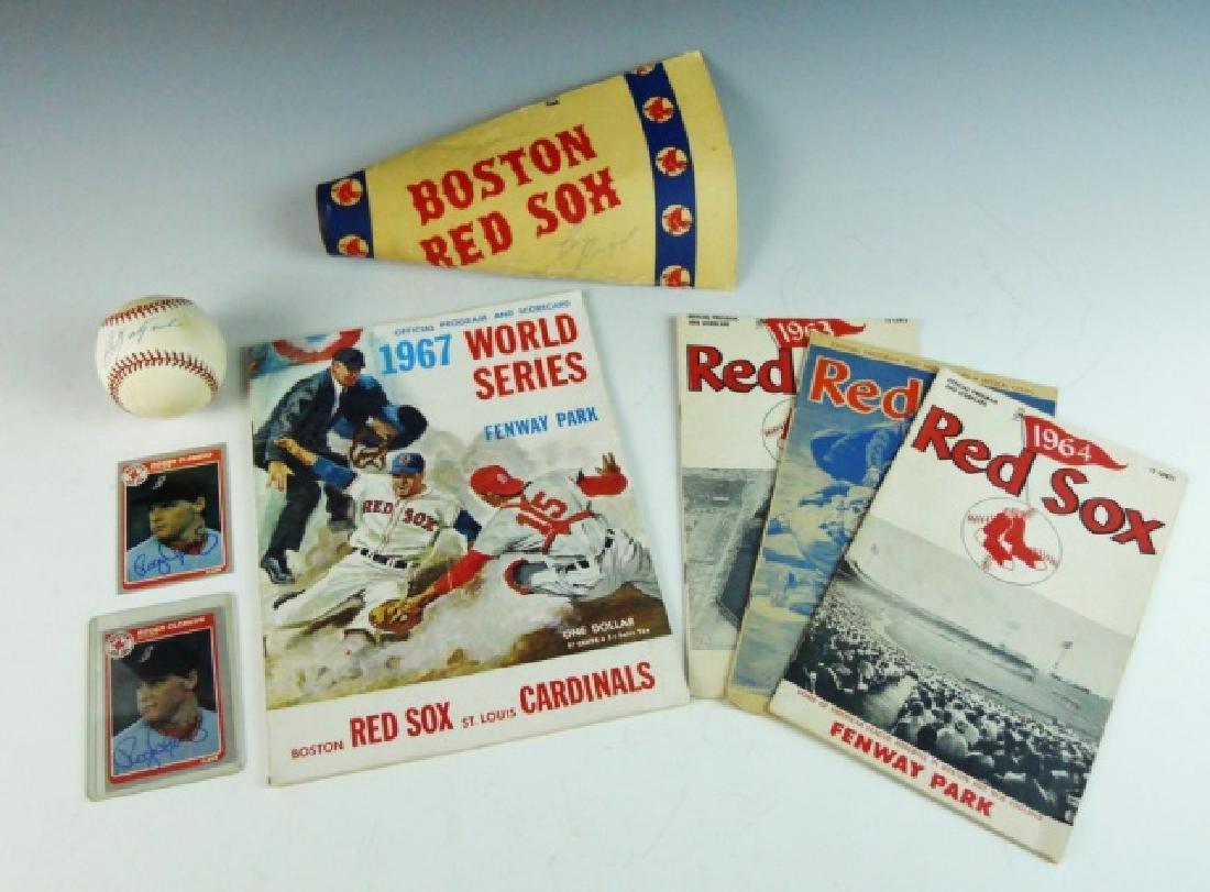 Collection of Boston Red Sox Memorabilia, (8pc)