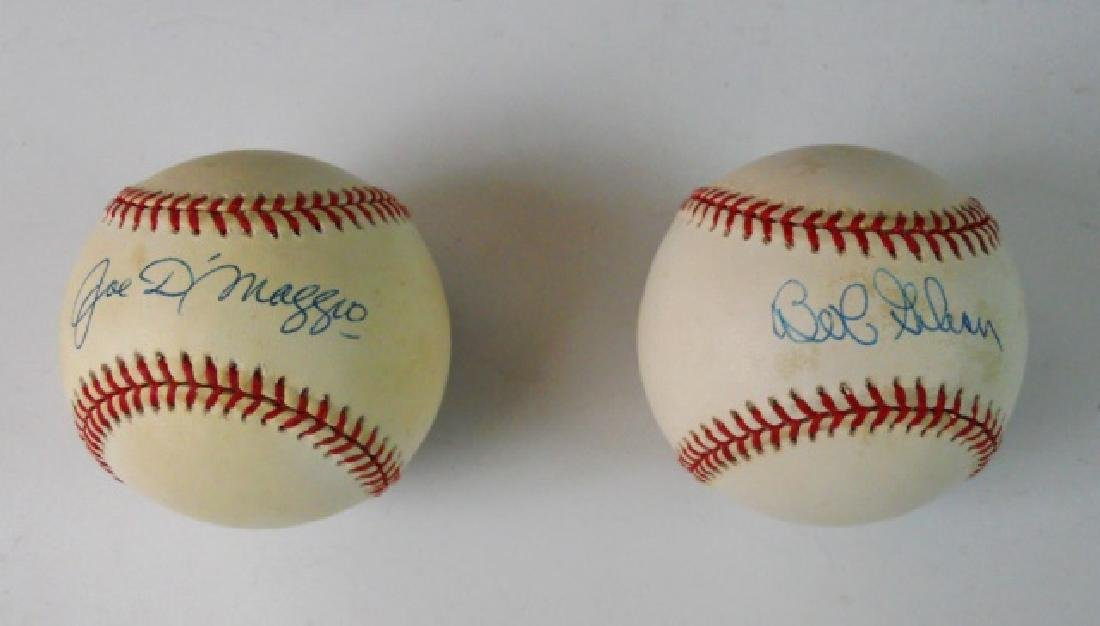 Autographed Baseballs, D' Maggio, Gibson (2pc)