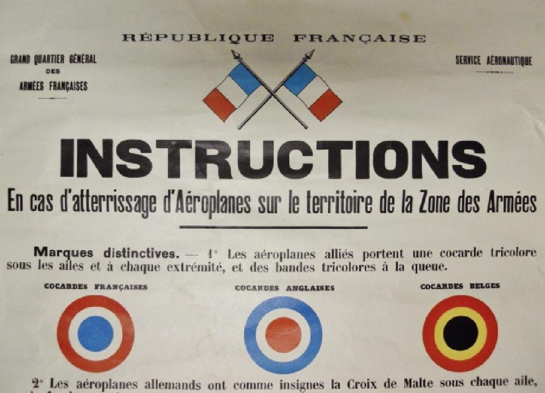 WW1 French Military Airplane ID Poster, 1916 PELLE - 2