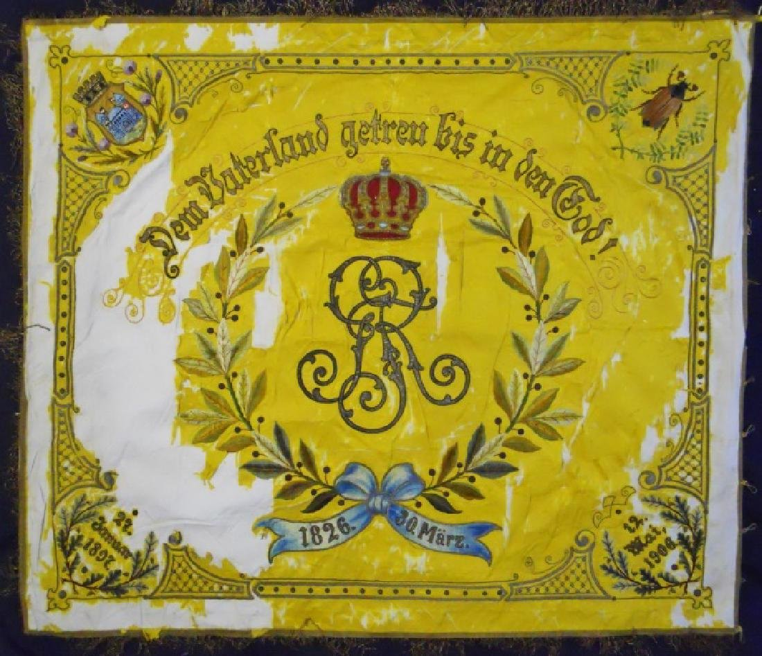 Imperial German Guards Flag, Accoutrements, (9pc) - 2