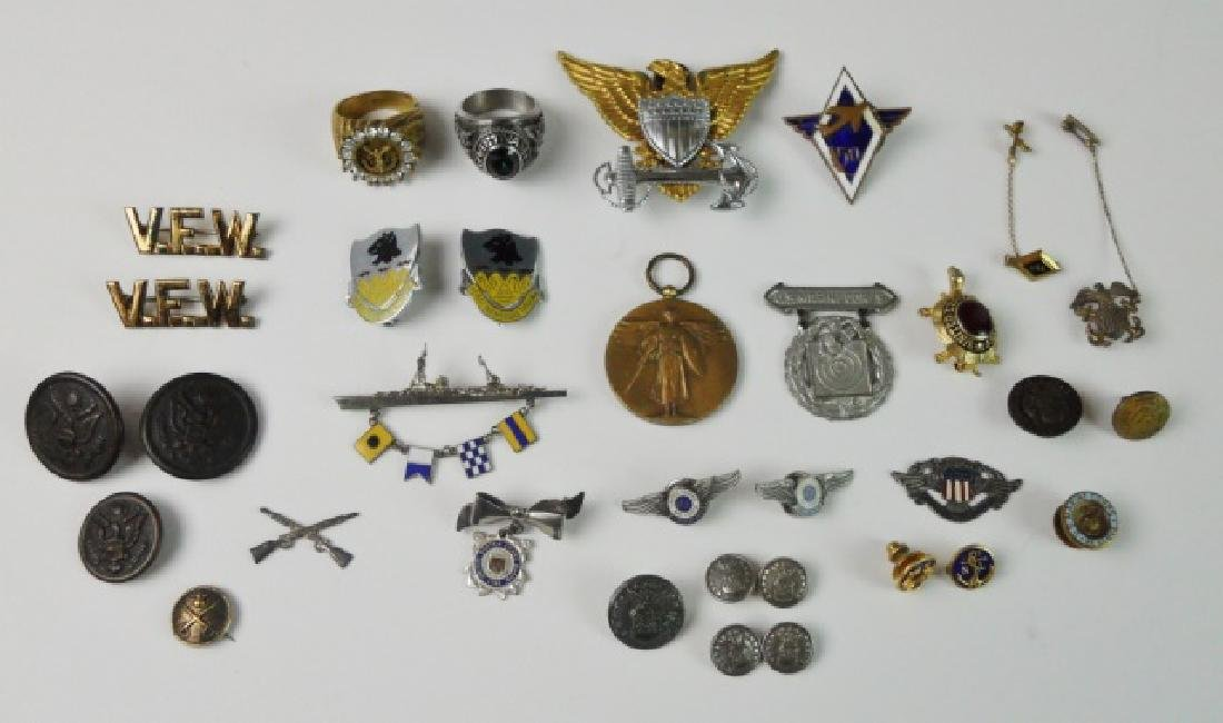Collection of Jewelry from WWI to Vietnam (31pc)