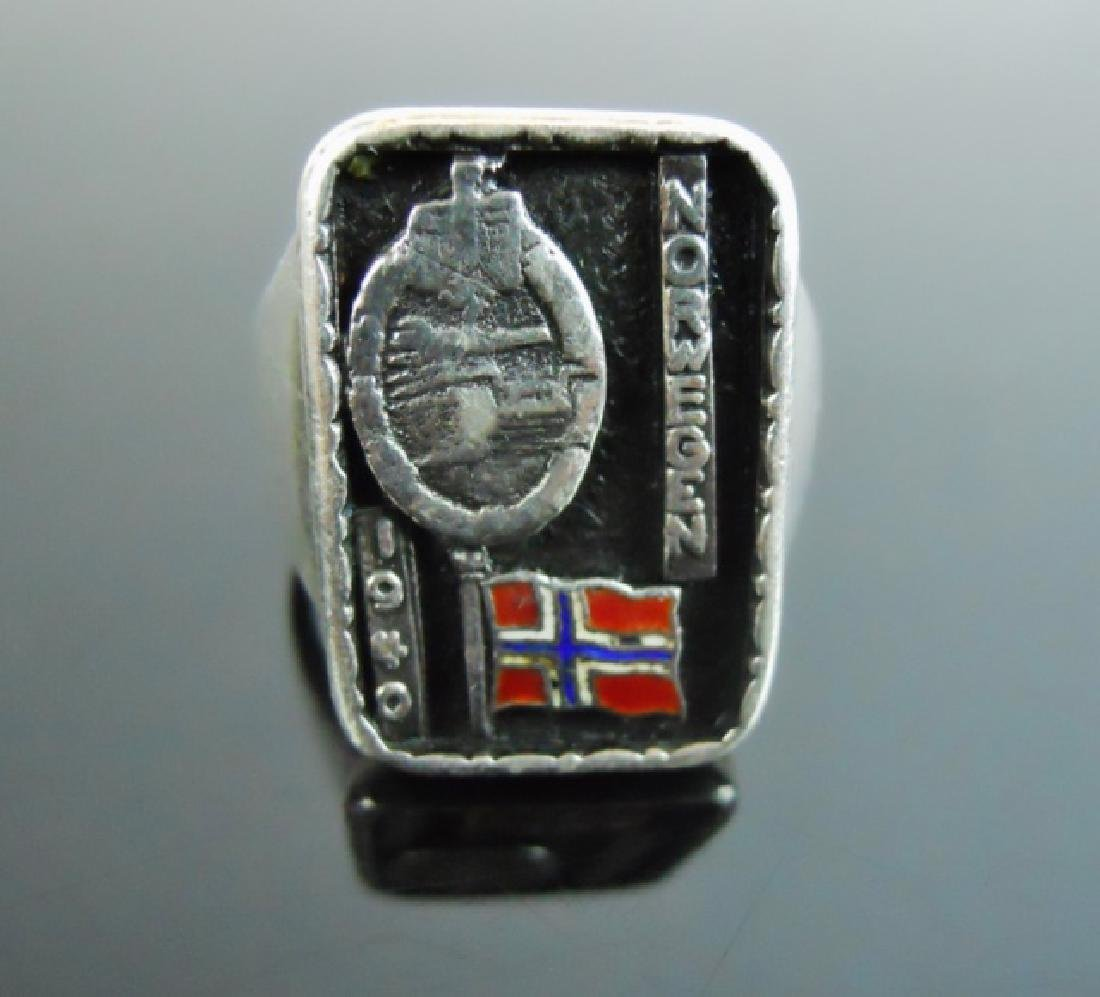 WW2 German Silver Ring, Norway 1940