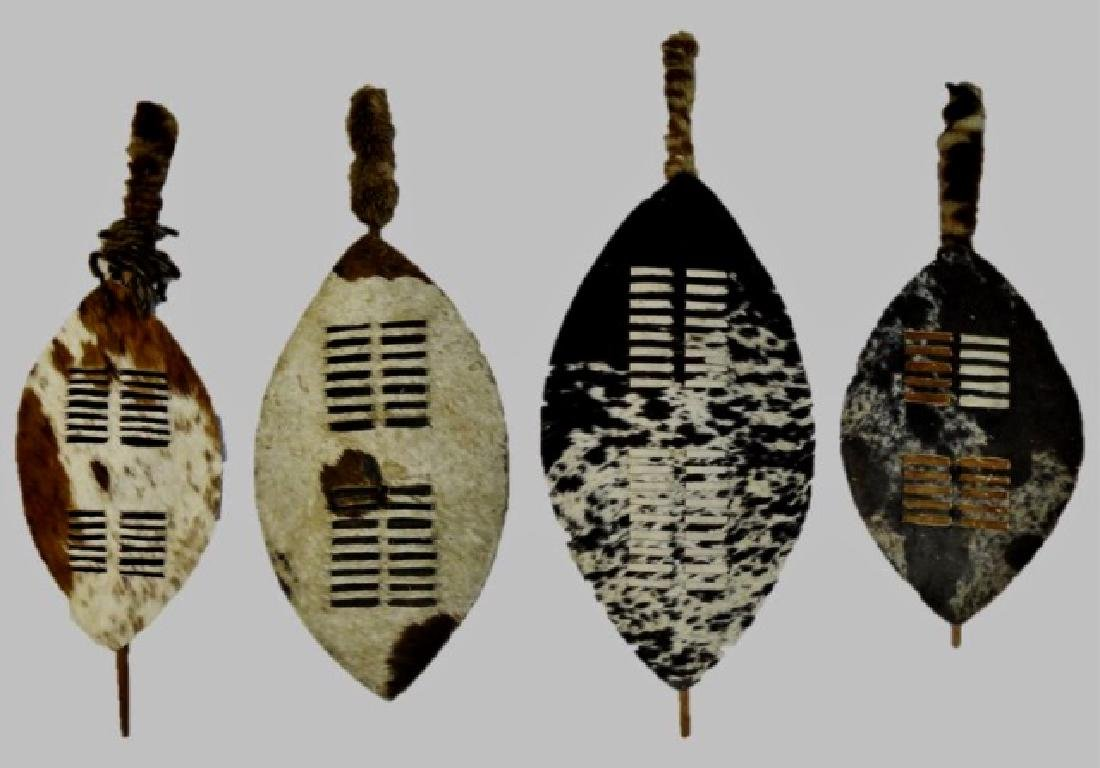 Collection of African Zulu Nguni Shields (4pc)