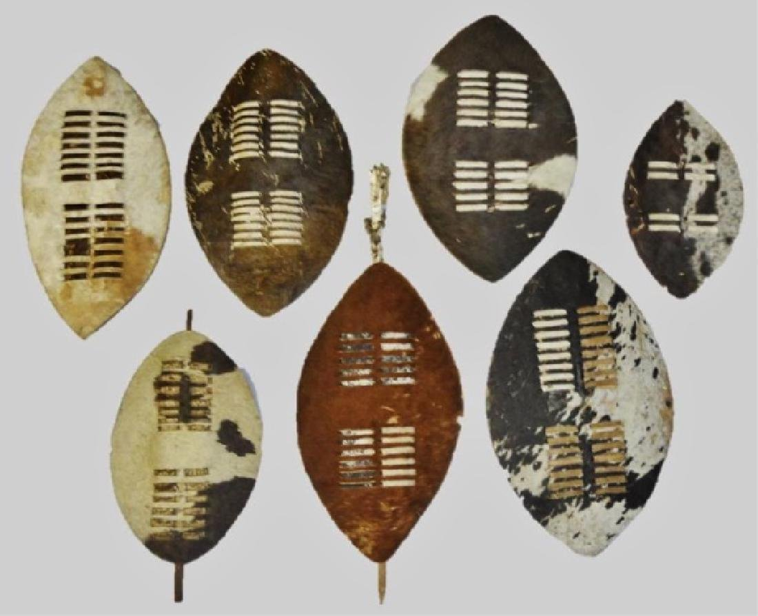 Collection of African Zulu Nguni Shields, (7pc)