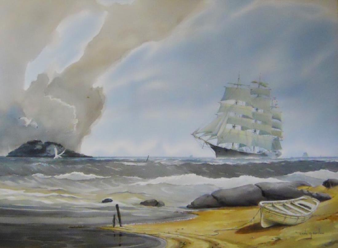 Watercolor on Paper, Earle G. Barlow (1923-2013)