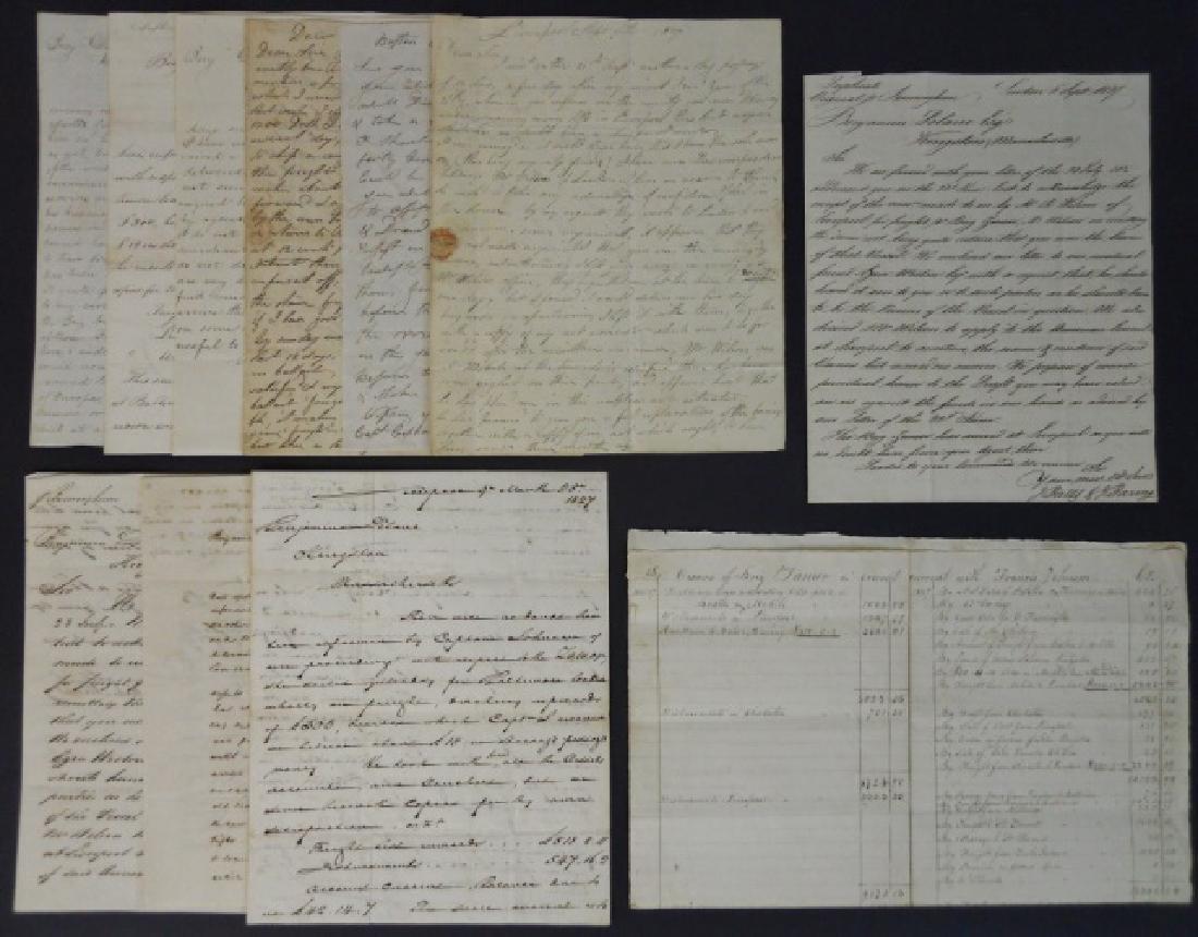 19th C. Delano Ship's Papers, S.S. Zamor, (11pc)