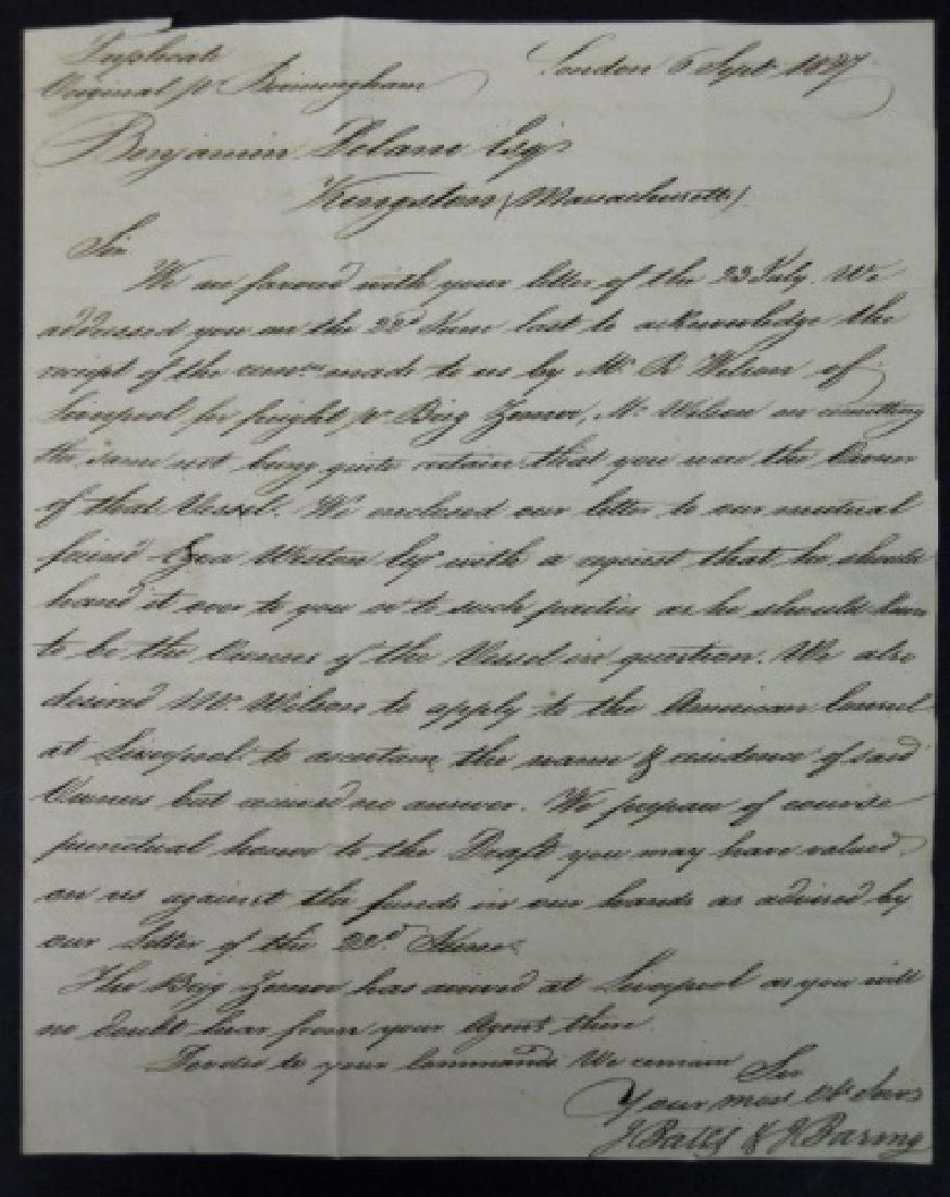 19th C. Delano Ship's Papers, S.S. Zamor, (11pc) - 2