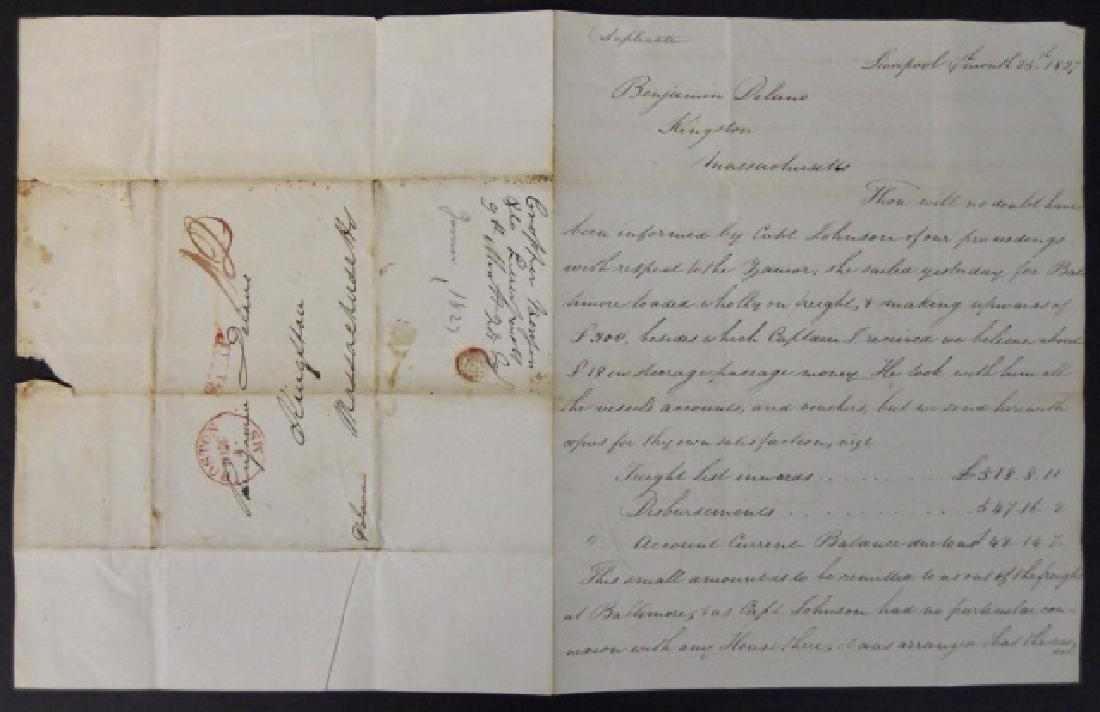 19th C. Delano Ship's Papers, S.S. Zamor, (11pc) - 6