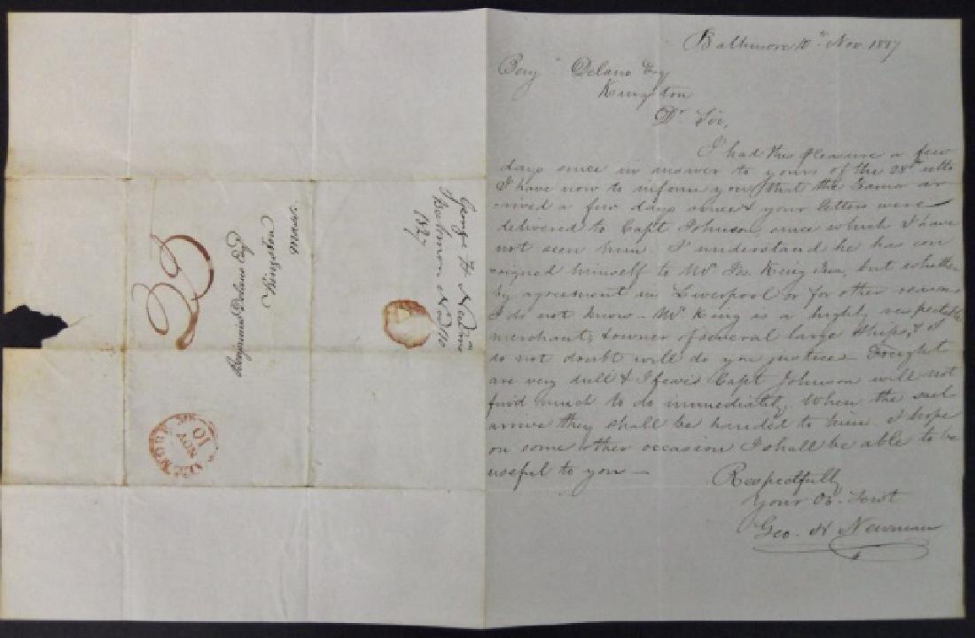 19th C. Delano Ship's Papers, S.S. Zamor, (11pc) - 7