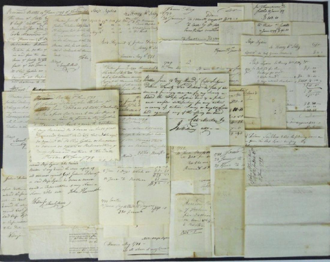 19th C. Delano Ship's Papers S.S. Lydia (37pc)