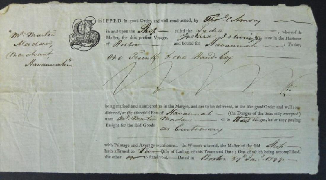 19th C. Delano Ship's Papers S.S. Lydia (37pc) - 5