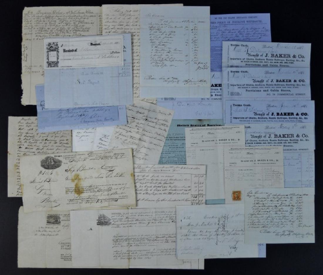 19th C. Delano Ships' Papers (69pc)