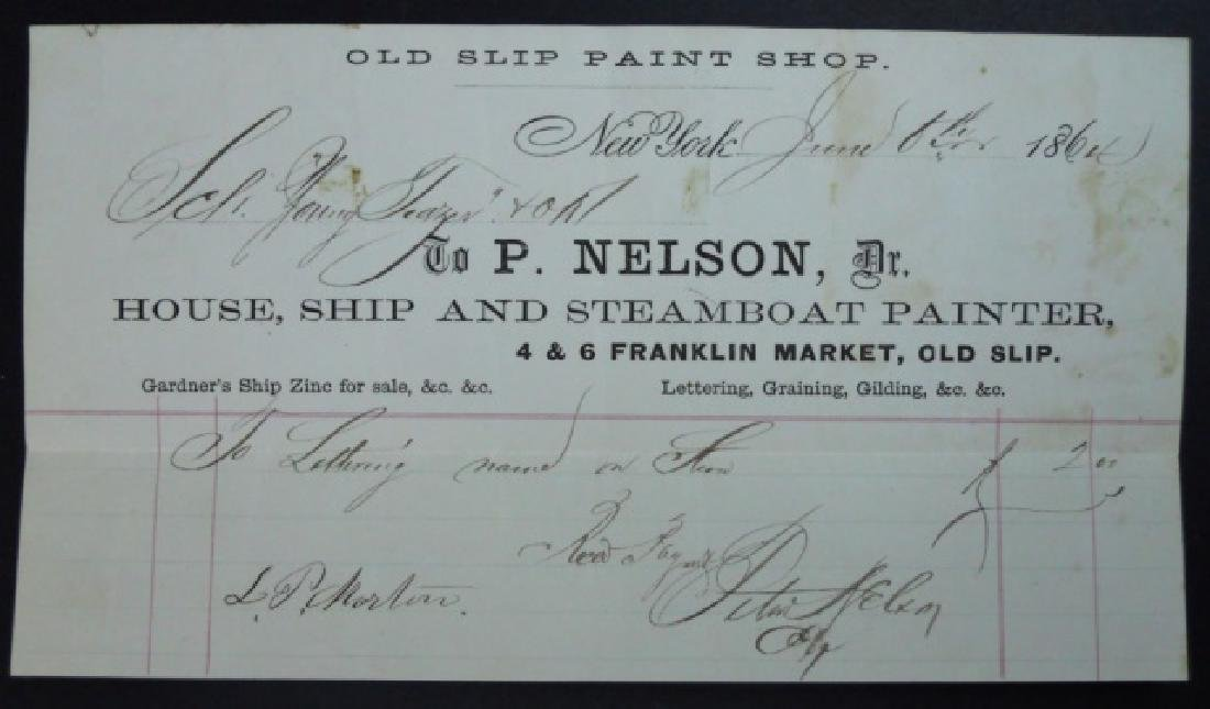 19th C. Delano Ships' Papers (65pc) - 6
