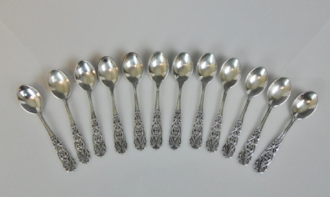 Set Swedish .830 Demitasse Spoons, HALLBERG (12pc) - 2
