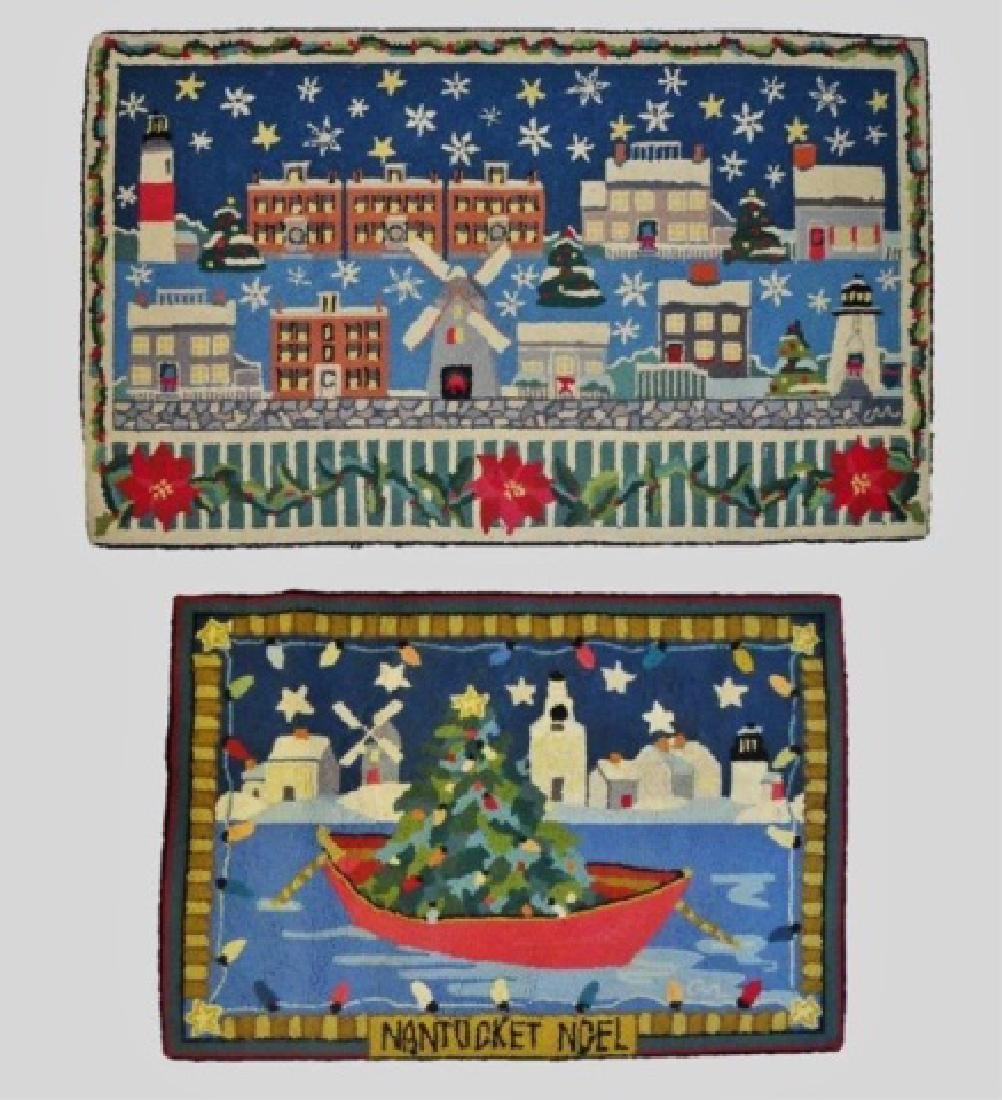 Nantucket Themed Hooked Rugs, Claire Murray (2pc)