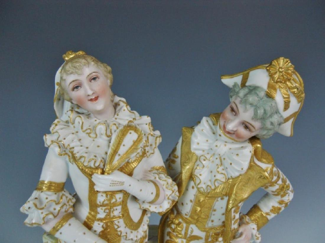 Continental Porcelain Gilt Decorated Figurine - 2