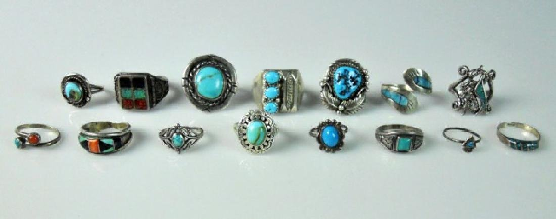 Southwest Sterling and Turquoise Jewelry (65 pc) - 2