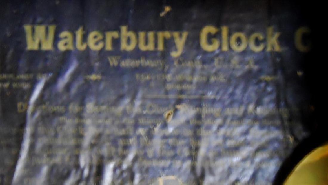 Antique Wall Clock, Waterbury Clock Co. - 3