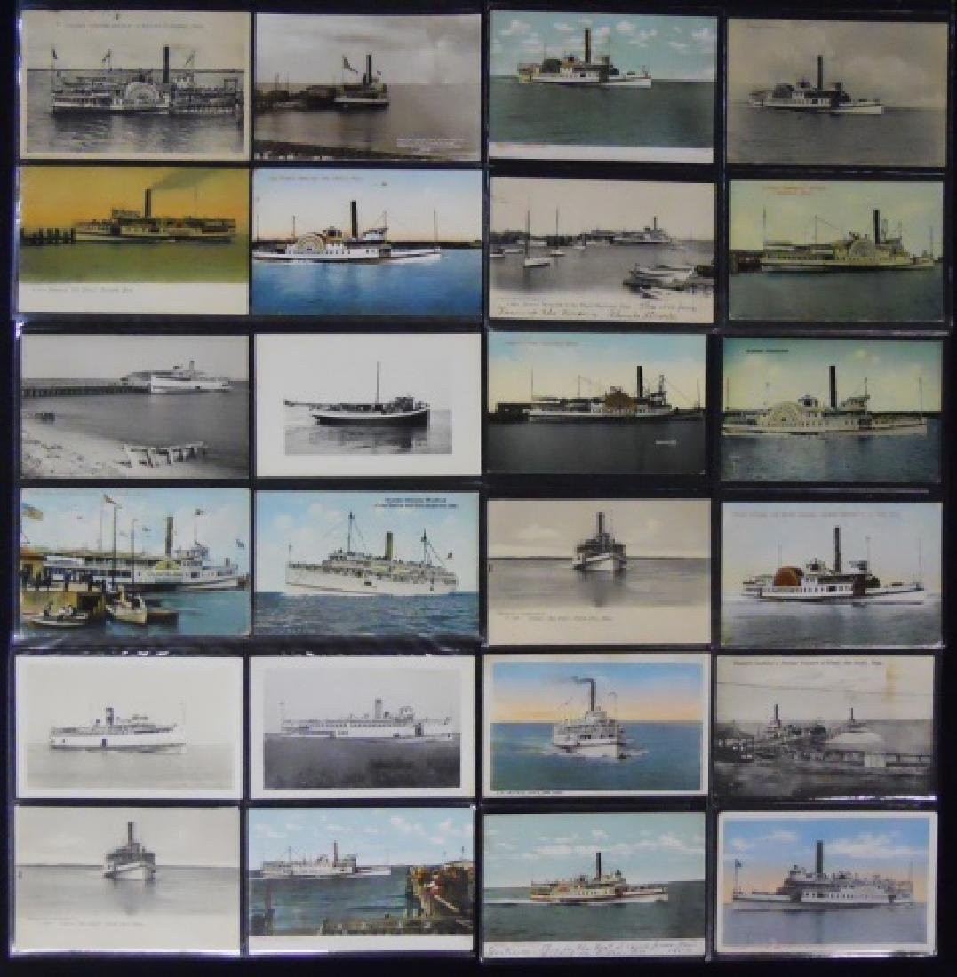 Antique Postcards, Cape and Islands Ferry, (153pc)