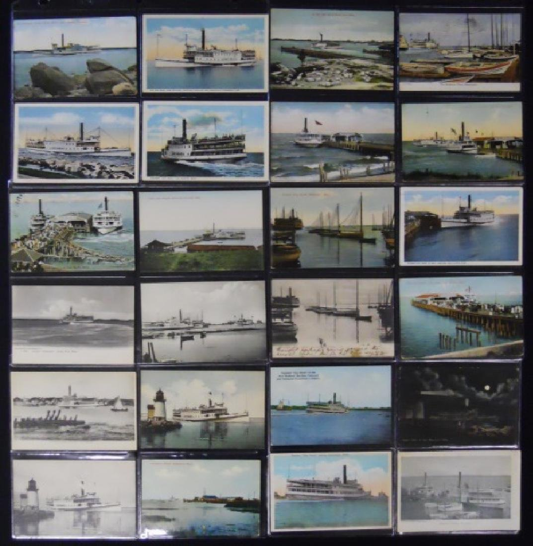 Antique Postcards, Cape and Islands Ferry, (153pc) - 2