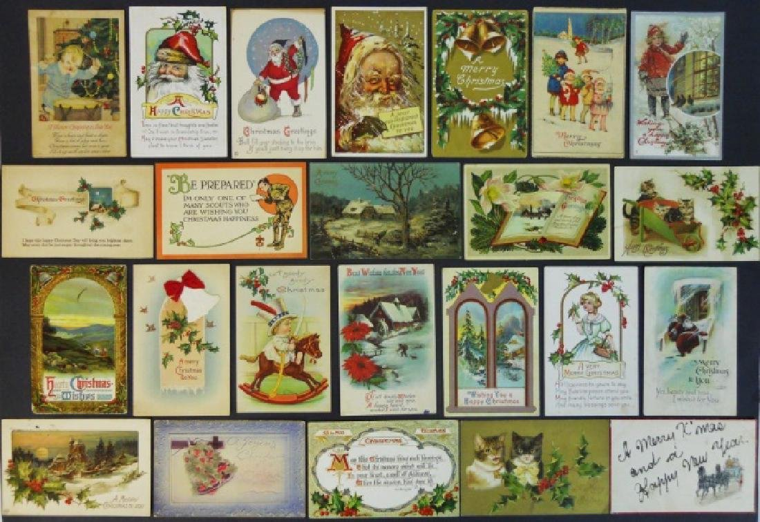 Early 20th C. Holiday Theme Postcards, (66pc) - 2
