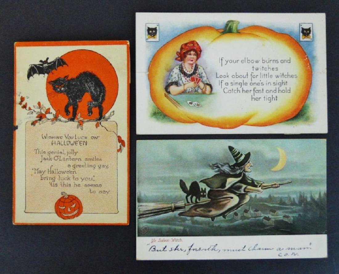 Early 20th C. Holiday Theme Postcards, (66pc) - 3