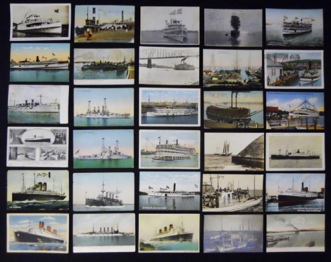 Antique Lighthouse or Ship Themed Postcards (56pc) - 2