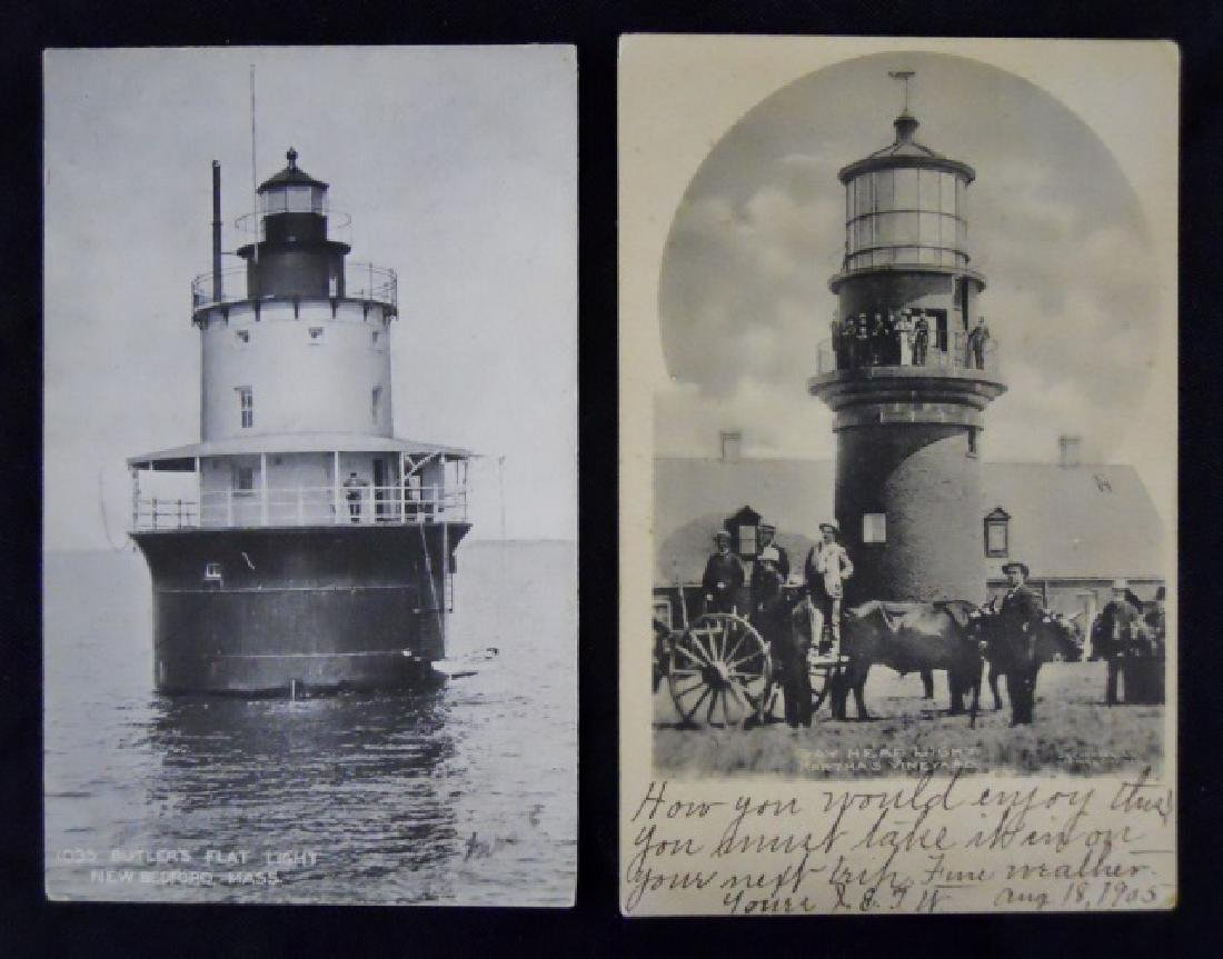 Antique Lighthouse or Ship Themed Postcards (56pc) - 4