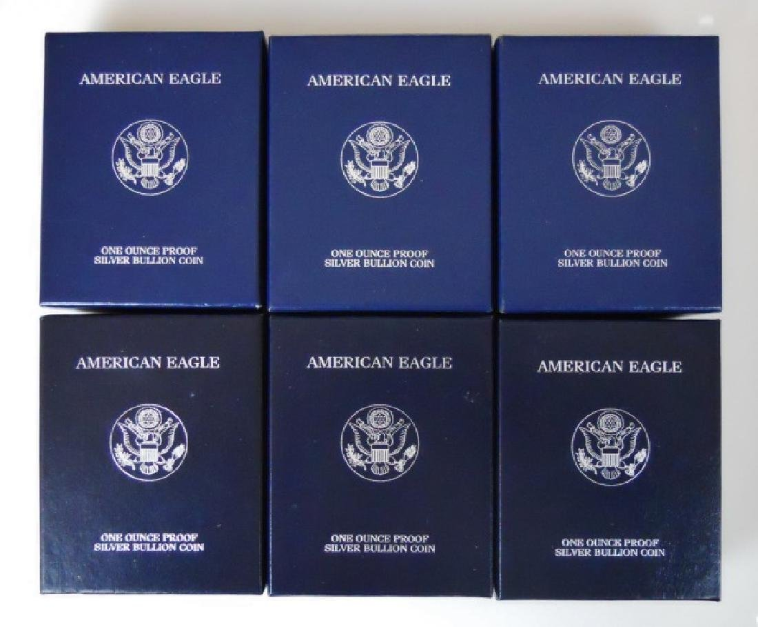 US American Eagle Silver Proofs, 1999-2004, (6pc)