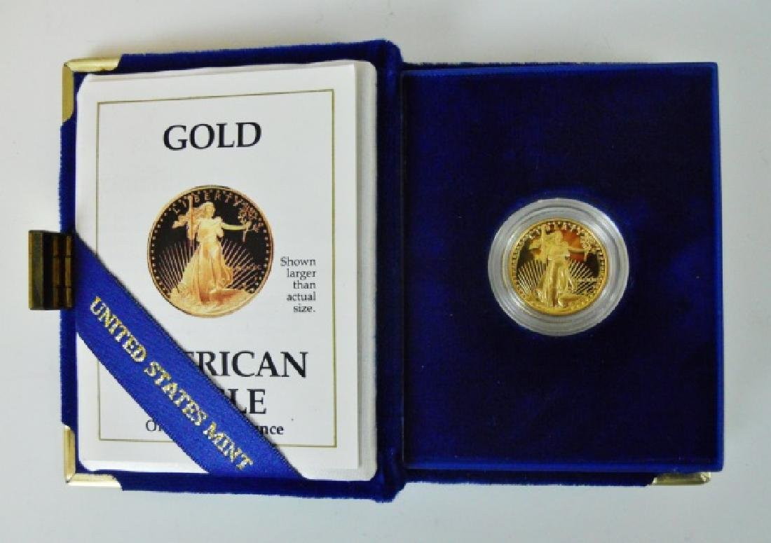 US 1990 Proof $10 Gold American Eagle Coin