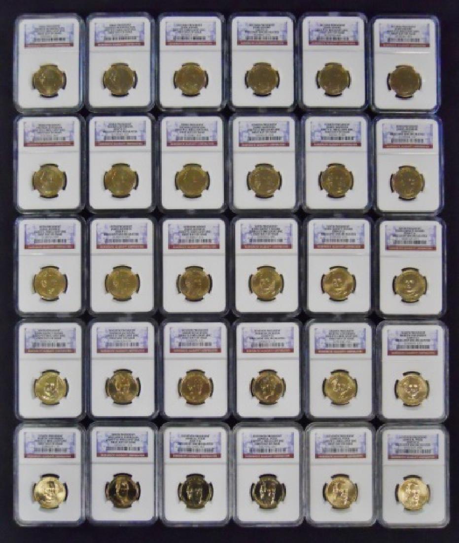 U.S. Presidential $1.00 Coins NGC BU, (30pc)