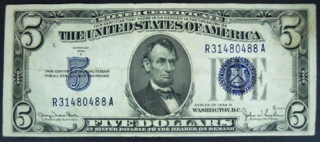 Currency SIlver Certificates, Demand $103 Face - 2